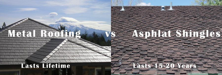 metal roofing vs asphalt roofing
